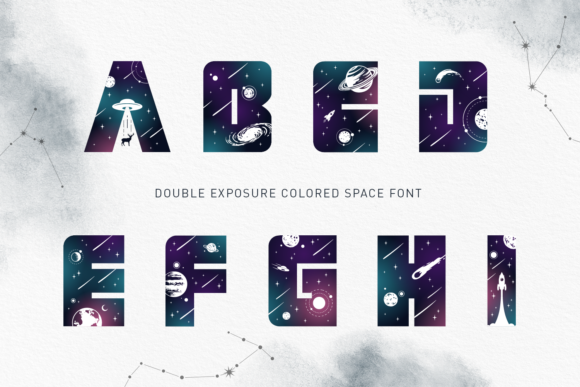 Print on Demand: Lost in Space Color Fonts Font By Cosmic Store - Image 12