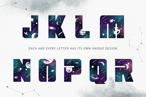 Print on Demand: Lost in Space Color Fonts Font By Cosmic Store - Image 13