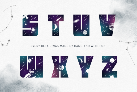 Print on Demand: Lost in Space Color Fonts Font By Cosmic Store - Image 14