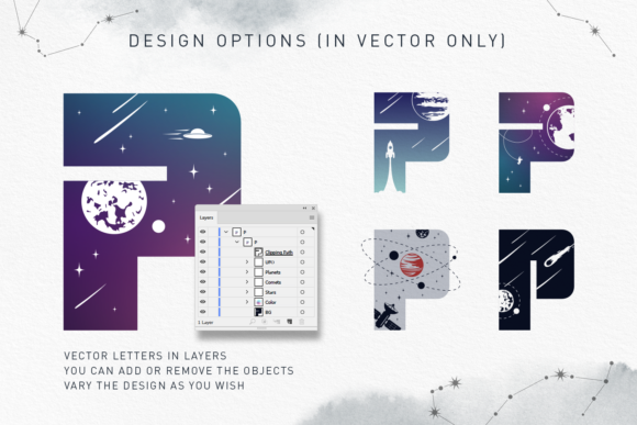 Print on Demand: Lost in Space Color Fonts Font By Cosmic Store - Image 15