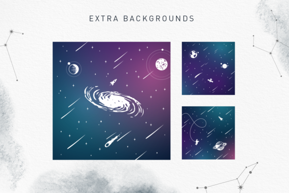 Print on Demand: Lost in Space Color Fonts Font By Cosmic Store - Image 17