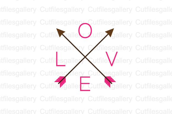 Download Free Love Arrow Cut File Graphic By Cutfilesgallery Creative Fabrica for Cricut Explore, Silhouette and other cutting machines.