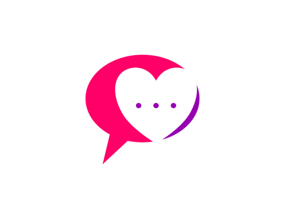 Download Free Love Chat Talk Logo Graphic By Meisuseno Creative Fabrica for Cricut Explore, Silhouette and other cutting machines.