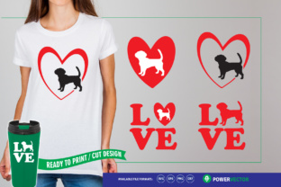 Download Free Love Dogs Files Graphic By Powervector Creative Fabrica for Cricut Explore, Silhouette and other cutting machines.