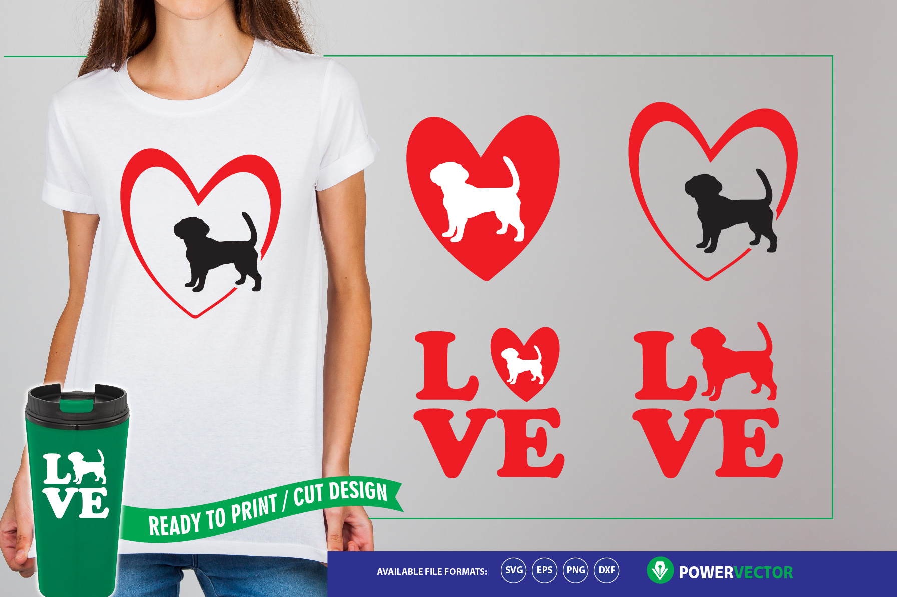 Download Free Love Dogs Files Grafico Por Powervector Creative Fabrica for Cricut Explore, Silhouette and other cutting machines.