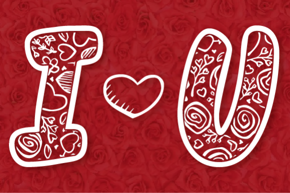 Print on Demand: Love Flower Script Display Font By Inspire Graphics - Image 2