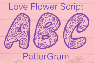 Print on Demand: Love Flower Script Display Font By Inspire Graphics