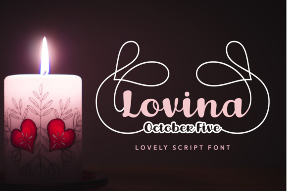 Print on Demand: Lovina October Five Script & Handwritten Font By Situjuh
