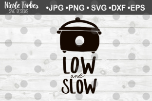 Download Free Low Slow Crock Pot Svg Graphic By Nicole Forbes Designs Creative Fabrica for Cricut Explore, Silhouette and other cutting machines.