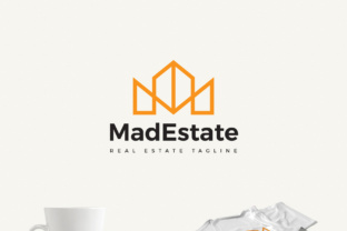 Mad Estate a Real Estate Logo Graphic By Design A Lot