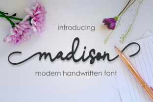 Madison Script Font By Mrletters