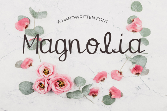 Print on Demand: Magnolia Script & Handwritten Font By Eldamar Studio Fonts
