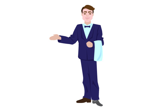 Download Free Man With Prostetic Leg Working As A Waiter Svg Cut File By for Cricut Explore, Silhouette and other cutting machines.