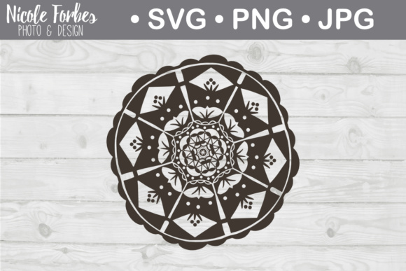 Download Free Mandala Graphic By Nicole Forbes Designs Creative Fabrica for Cricut Explore, Silhouette and other cutting machines.
