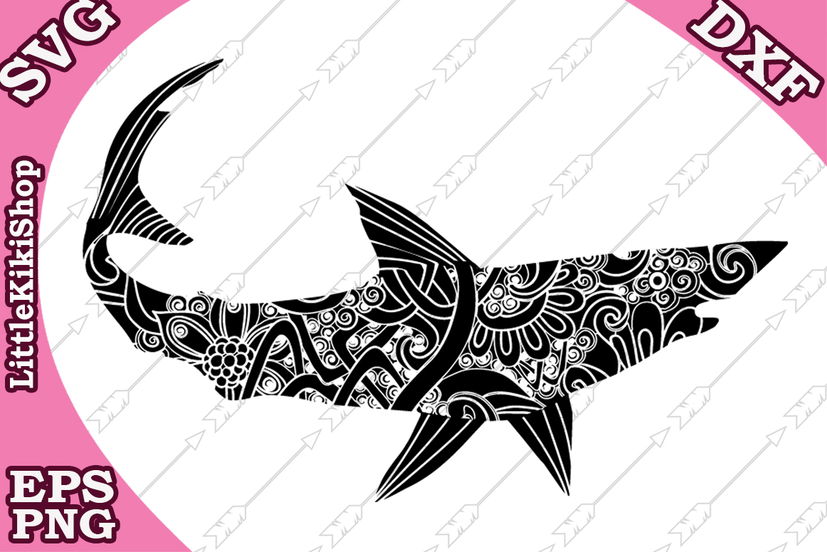 Download Free Mandala Shark Graphic By Littlekikishop Creative Fabrica SVG Cut Files