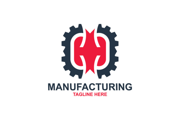 Download Free Manufacturing Logo Graphic By Thehero Creative Fabrica for Cricut Explore, Silhouette and other cutting machines.
