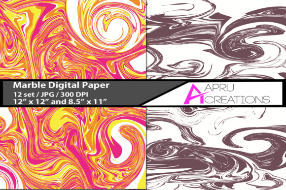Marble Papers, Marble Pattern, Marble Backgrounds Graphic By aparnastjp Image 2