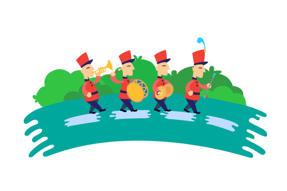 Download Free Marching Band Cartoon Svg Cut File By Creative Fabrica Crafts SVG Cut Files