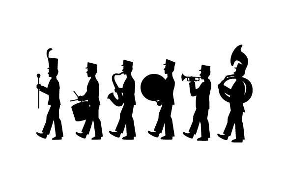 Marching Band Silhouete Music Craft Cut File By Creative Fabrica Crafts
