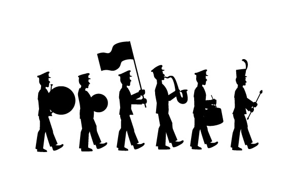 Download Free Marching Band Silhouete Svg Cut File By Creative Fabrica Crafts SVG Cut Files