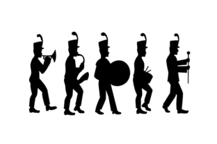 Marching Band Silhouette Craft Design By Creative Fabrica Crafts