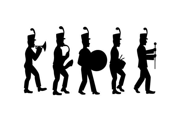 Download Free Marching Band Silhouette Svg Cut File By Creative Fabrica Crafts for Cricut Explore, Silhouette and other cutting machines.