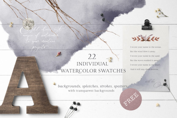 Marena Watercolor Swatches Graphic Backgrounds By Creative Fabrica Freebies