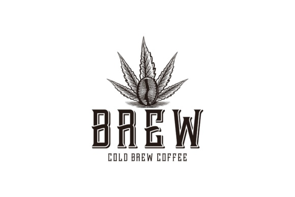 Download Free Marijuana Leaf And Coffee Logo Graphic By Yahyaanasatokillah for Cricut Explore, Silhouette and other cutting machines.