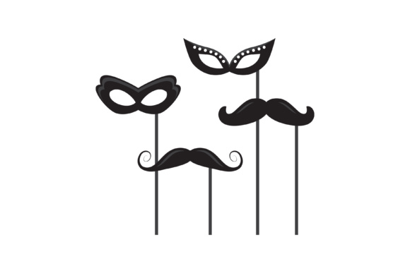 Download Free Mask Design Silhouette Graphic By Sabavector Creative Fabrica for Cricut Explore, Silhouette and other cutting machines.