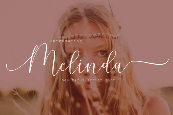Print on Demand: Melinda Script & Handwritten Font By Rudistudio