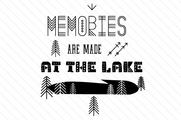 Memories Are Made at the Lake Summer Craft Cut File By Creative Fabrica Crafts - Image 2