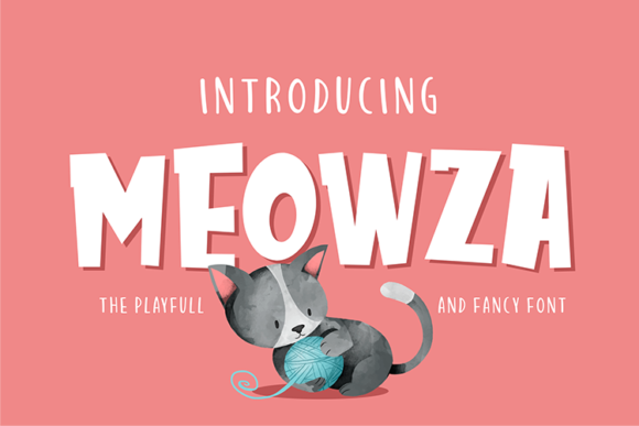 Print on Demand: Meowza Display Font By figuree studio