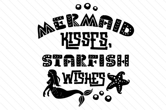 Mermaid Kisses Starfish Wishes Summer Craft Cut File By Creative Fabrica Crafts - Image 2