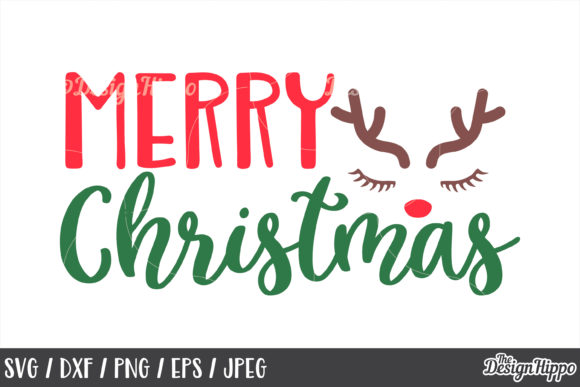 Download Free Merry Christmas Bundle Grafico Por Thedesignhippo Creative Fabrica for Cricut Explore, Silhouette and other cutting machines.