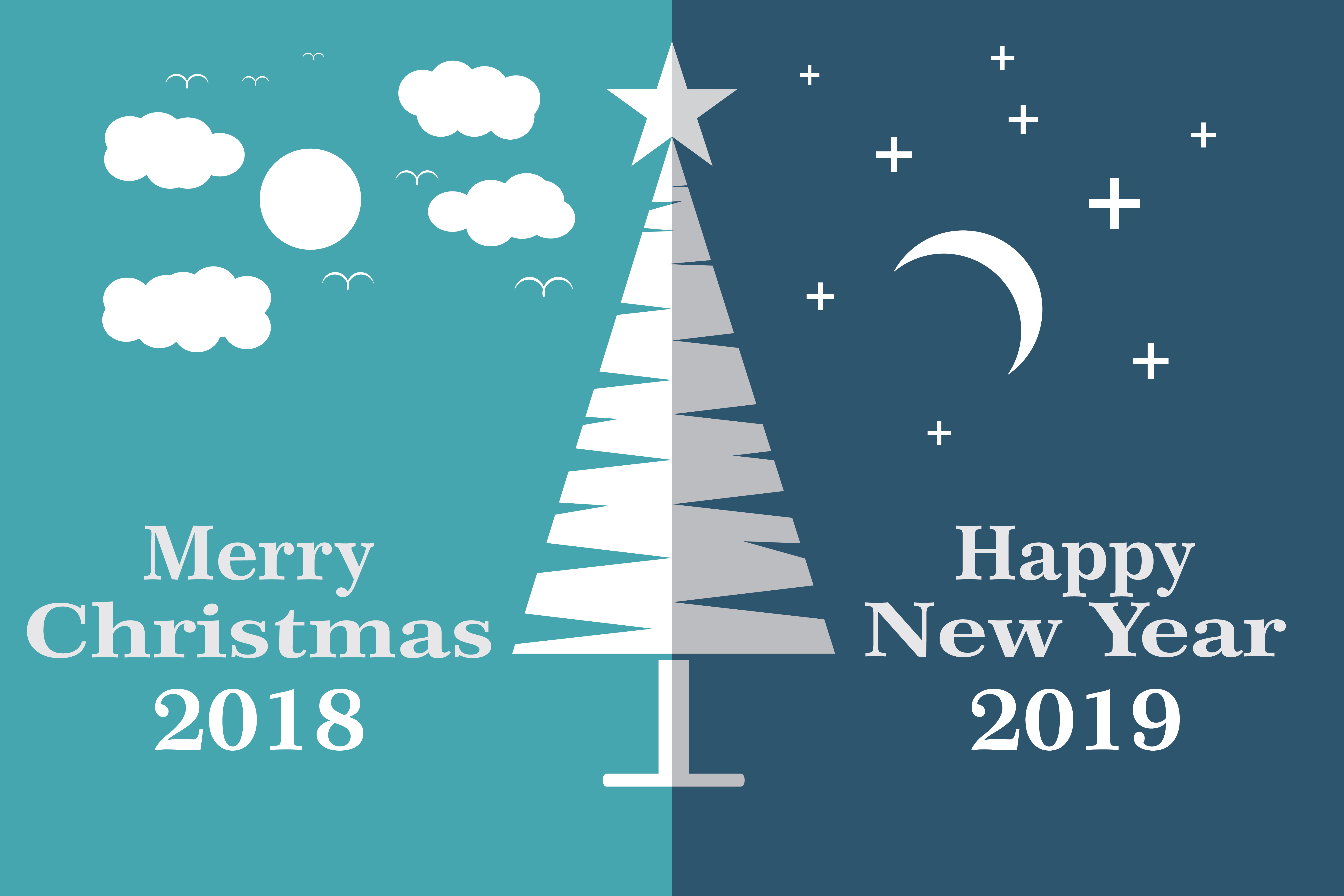 Merry Christmas and happy New year Graphic by LeisureProjects ...