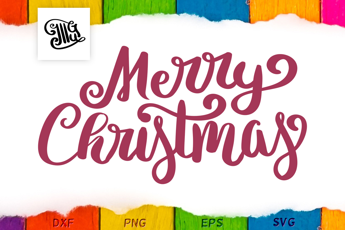 Download Free Merry Christmas Hand Lettered Winter Graphic By Illustrator SVG Cut Files
