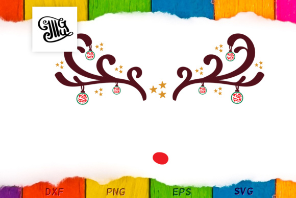 Download Free Merry X Mas Reindeer Face Monogram Graphic By Illustrator Guru for Cricut Explore, Silhouette and other cutting machines.