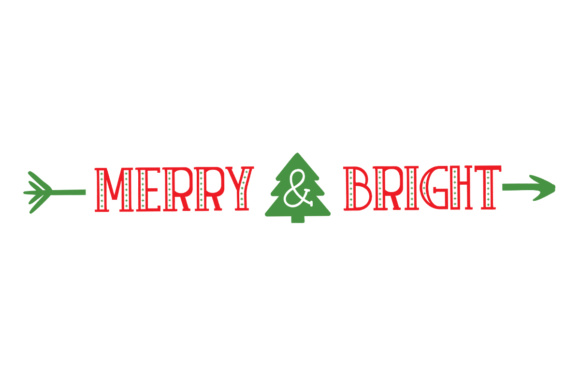 Merry and Bright - Christmas - Hand Lettered
