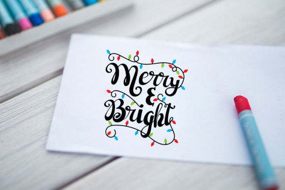 Merry and Bright - Christmas Lights Graphic By Illustrator Guru Image 3