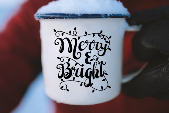Merry and Bright - Christmas Lights Graphic By Illustrator Guru Image 4