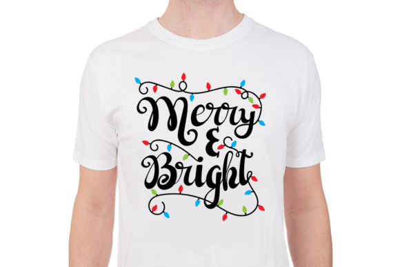 Merry and Bright - Christmas Lights Graphic By Illustrator Guru Image 5