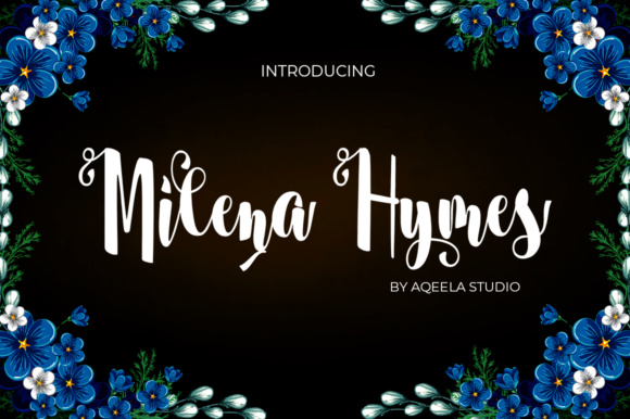 Print on Demand: Milena Hymes Script Script & Handwritten Font By Aqeela Studio