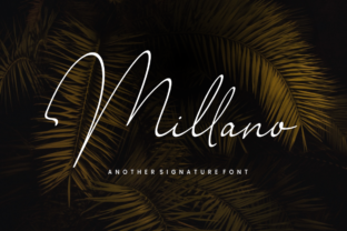Millano Font By Sronstudio