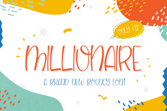 Print on Demand: Millionaire Display Font By Salt & Pepper Designs