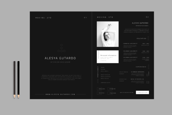 Minimal Resume CV Graphic By TMint