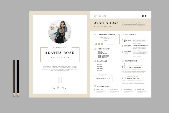 Minimal Resume CV Graphic Print Templates By TMint