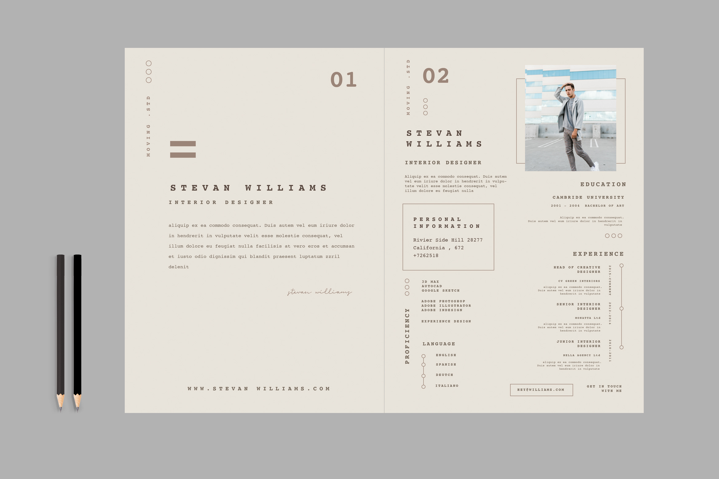 Download Free Minimal Resume Cv Graphic By Tmint Creative Fabrica for Cricut Explore, Silhouette and other cutting machines.
