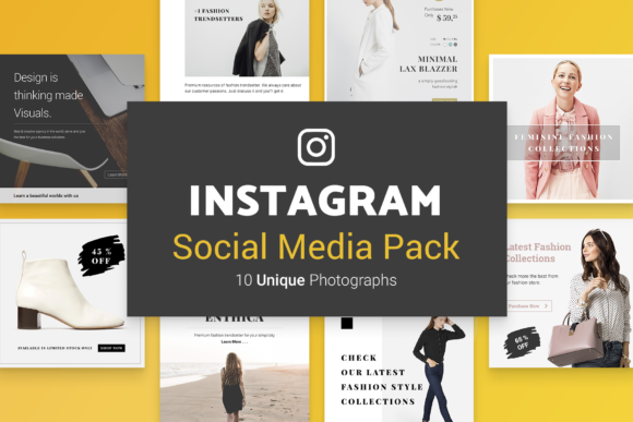 Print on Demand: Minimal Social Packs V. 01 Graphic Presentation Templates By onetype - Image 4