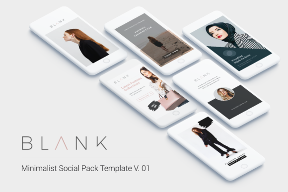 Print on Demand: Minimal Social Packs V. 01 Graphic Presentation Templates By onetype - Image 1