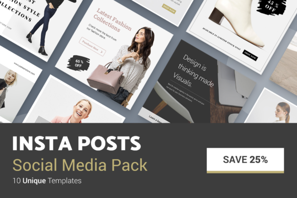 Print on Demand: Minimal Social Packs V. 01 Graphic Presentation Templates By onetype - Image 7